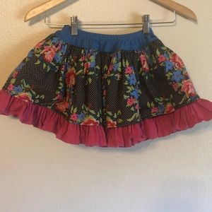 Persnickety ruffle flower flare skirt